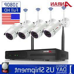 ANRAN 1080P Wireless Security WIFI Camera System 8CH Outdoor