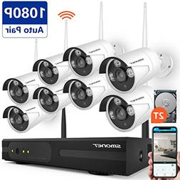 Wireless Surveillance Camera System, SMONET 8CH 1080P HD