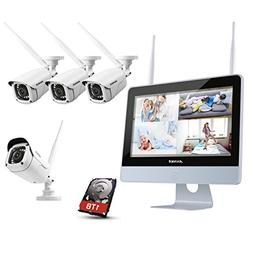 ANNKE 1080P Wireless System, 4CH FHD Wi-Fi NVR Video Surveil