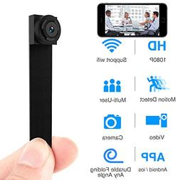 Spy Hidden Camera, Wireless Wi-Fi Camera 1080P APP Mini Port